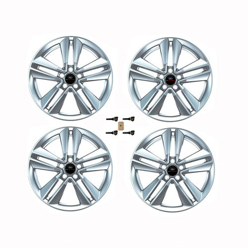 "2015-2017 MUSTANG ECOBOOST 19"" X 9"" PERFORMANCE PACK WHEEL SET WITH TPMS KIT - SPARKLE SILVER"
