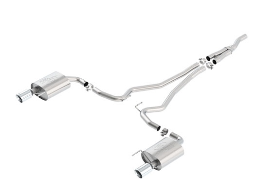 2015-2017 MUSTANG 2.3L ECOBOOST CAT BACK SPORT EXHAUST SYSTEM - CHROME TIPS